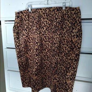 Woman's Leopard Skirt
